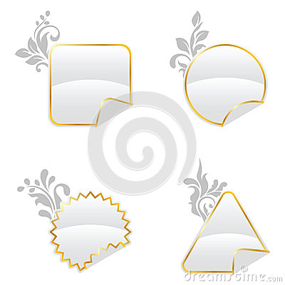 White floral decorated buttons