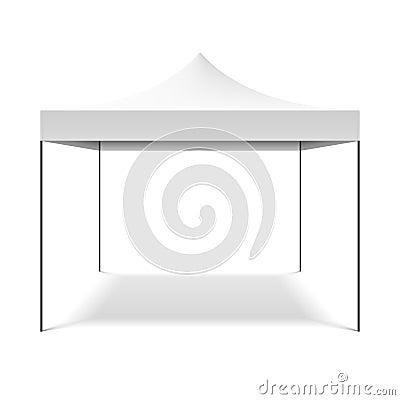 Free White Folding Tent Royalty Free Stock Photos - 41473448