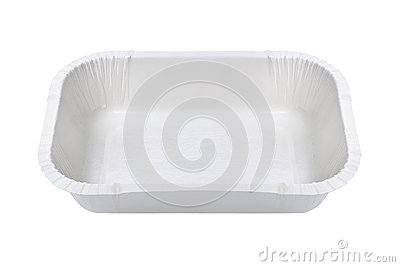 White Food Tray