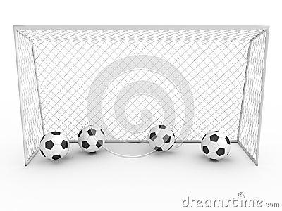 White football goal #3