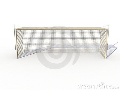 White football goals №1