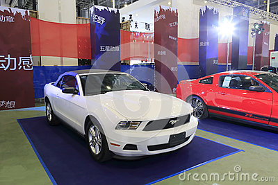 White ford mustang  convertible Editorial Photography