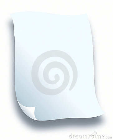 White för bokstavspapper
