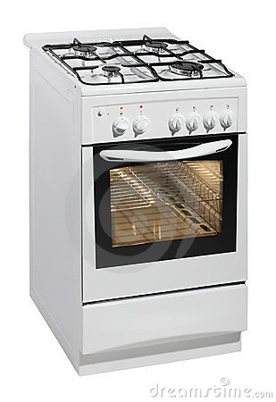Free White Free Standing Cooker Royalty Free Stock Photography - 23541877