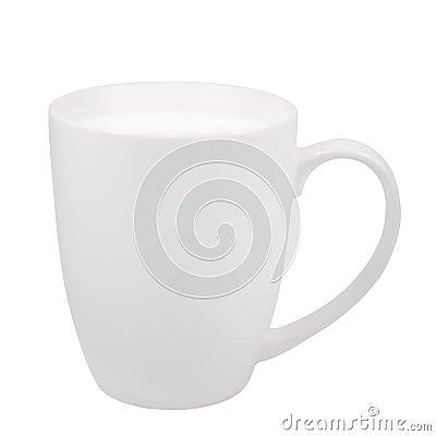 Free White Fresh Milk Mug, China Porcelain Cup, Large Detailed Isolated Macro Closeup, Vertical Studio Shot, Healthy Food Lifestyle Royalty Free Stock Images - 76028589