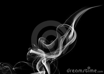 White fume abstract shape
