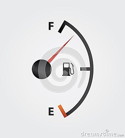 White gas full meter