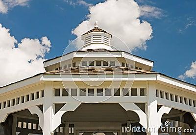 White gazebo roof