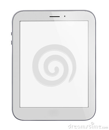 White generic computer tablet.