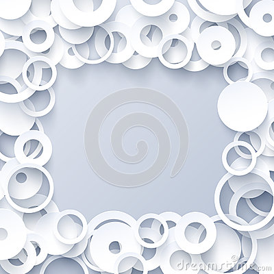 3d white paper geometric abstract background Vector Illustration
