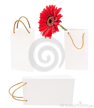 White gift packages