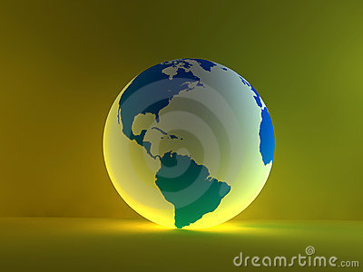 White globe