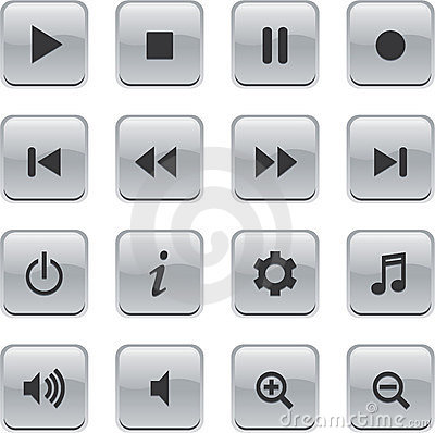White Glossy remote buttons