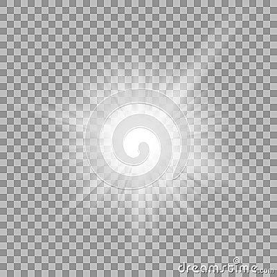 Free White Glowing Light Burst On Transparent Background. Royalty Free Stock Images - 67763399