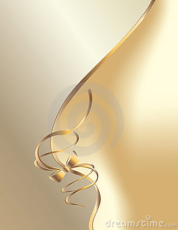 White gold bow curve background