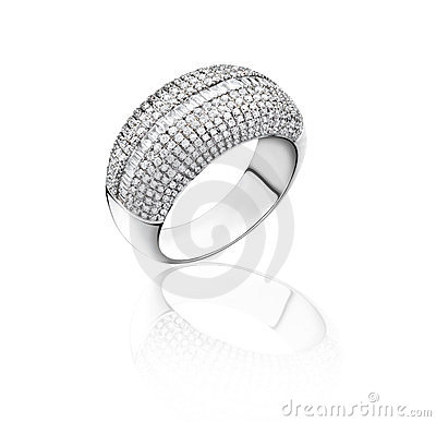 White Gold Diamond Ring Royalty Free Stock Images - Image: 23734299