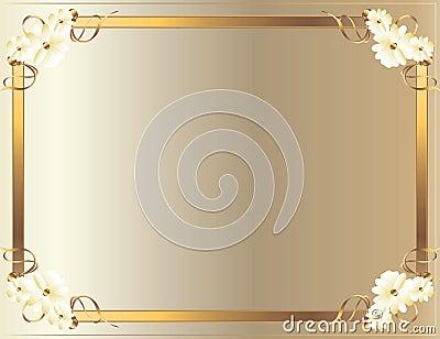 White Gold flower frame