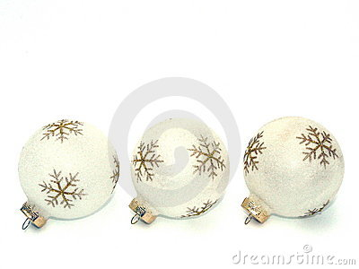 White-and-Gold Holiday Ornaments