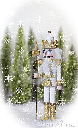 White Gold Nutcracker Stock Photo - Image: 45934024