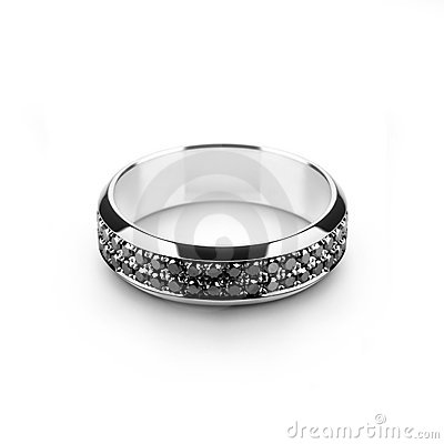 Free White Gold Wedding Ring For Him Stock Photos - 10780153