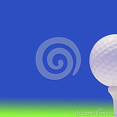 Free White Golf Ball And Tee Stock Photos - 184203