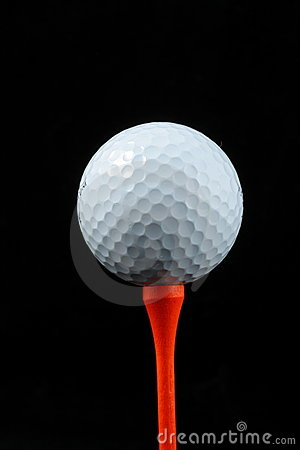 Free White Golf Ball On A Tee Stock Image - 3971501