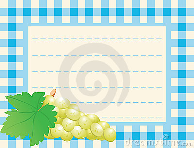 White grape on chequered backg