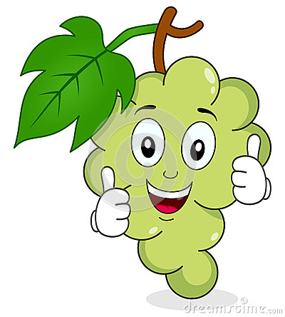 Free White Grapes Character With Thumbs Up Royalty Free Stock Image - 50382796