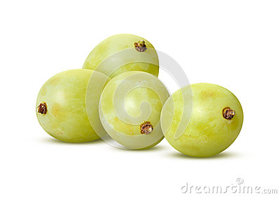 White Grapes  with clipping path