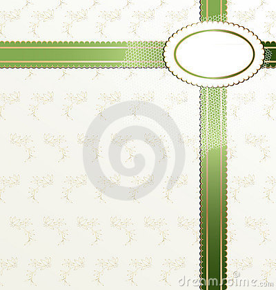 white-green background with ribbon
