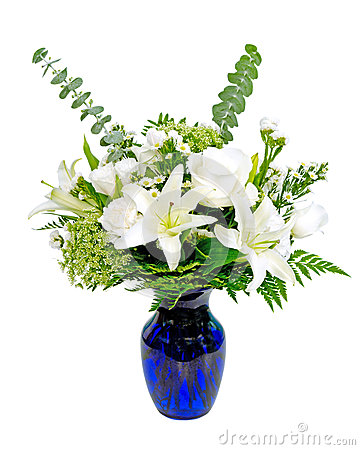 White and green flower arrangement centerpiece