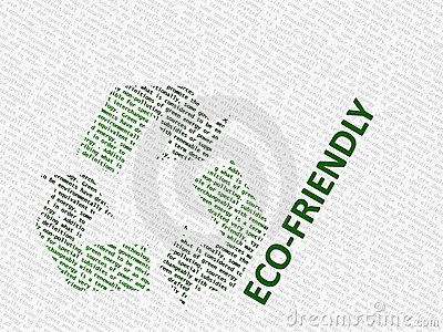 White and green recycle logo