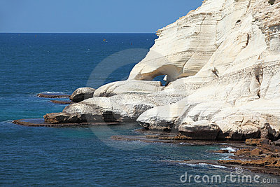 White grottoes Rosh-a-Nikra