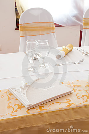 White guest book