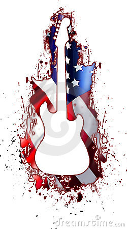 White Guitar Silhouette Usa Rock Stock Images Image 9279334