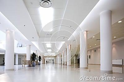 White hall of office center