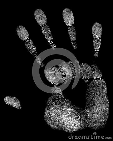 Free White Handprint Royalty Free Stock Photography - 64989897