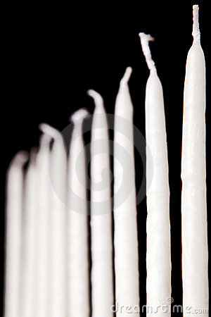 White hanukkah candles