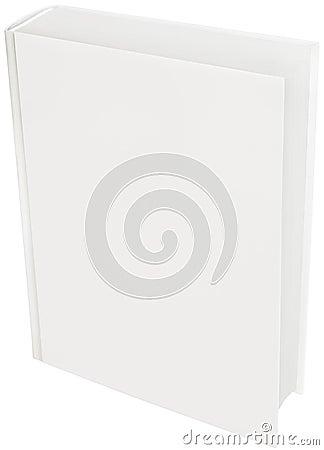 White hard cover book