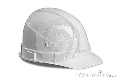 White hard hat.