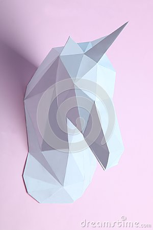 Free White Head Of A Unicorn Royalty Free Stock Images - 111000609