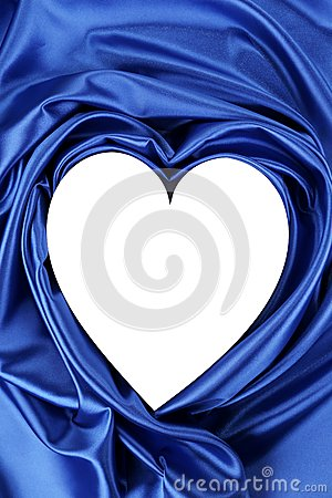 White heart of blue silk