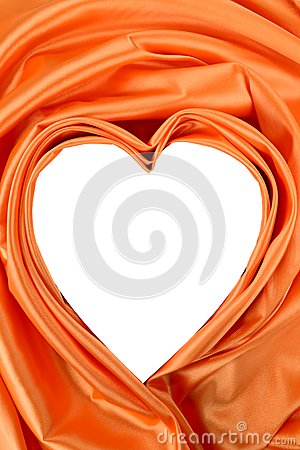 White heart of orange silk