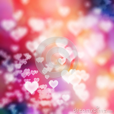 Free White Hearts On Colorful Background Stock Image - 36692681