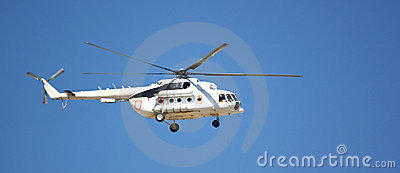 A white helicopter