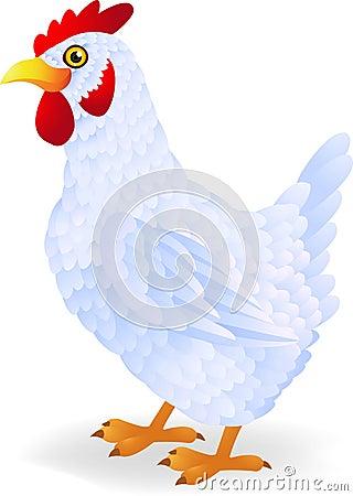 White hen cartoon