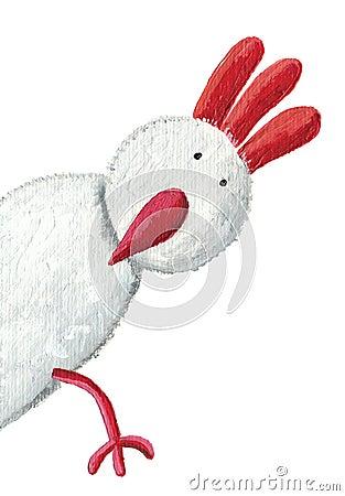 Free White Hen Peeking Royalty Free Stock Photography - 19656527