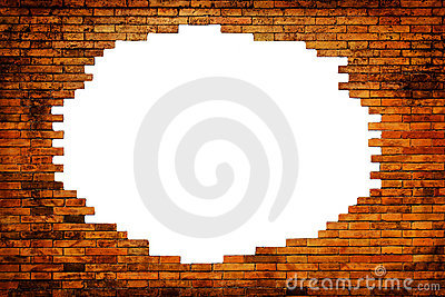 White hole in old wall