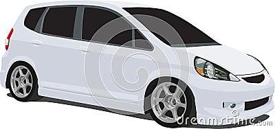White Honda Fit Wagon
