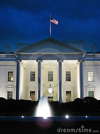 Free White House And Fountain Stock Photos - 1518573